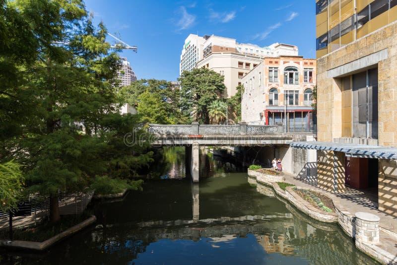 Beroemd Toneelsan Antonio River Walk in Texas royalty-vrije stock afbeelding