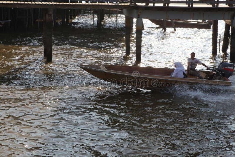 Beroemd Waterdorp in Brunei Borneo royalty-vrije stock foto's