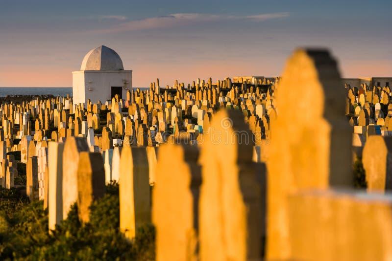 Beroemde Begraafplaats bij Verkoopkerkhof in Marokko stock foto's