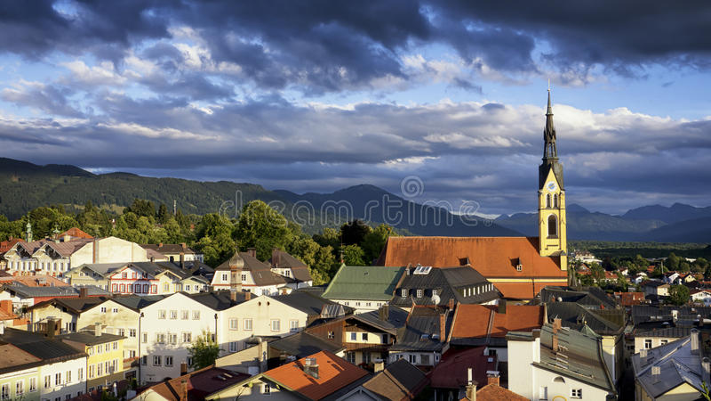 Beroemde Beierse kerk stock foto