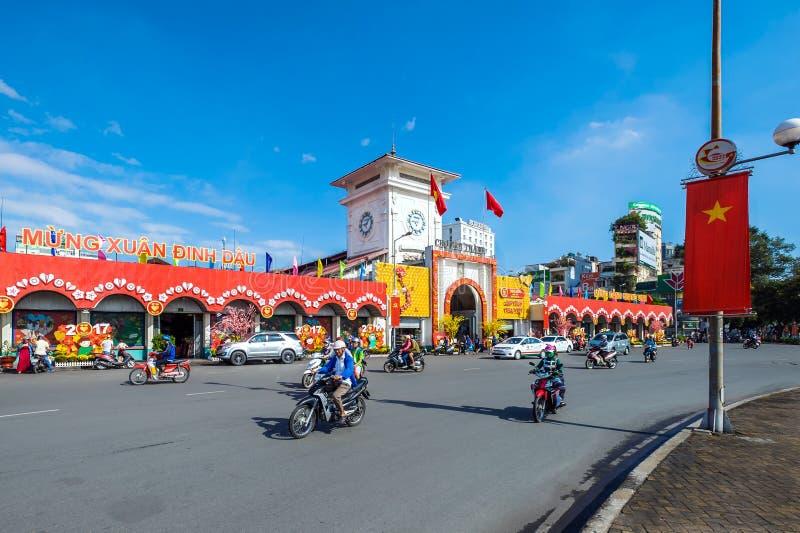 Beroemde Ben Thanh-markt royalty-vrije stock afbeeldingen