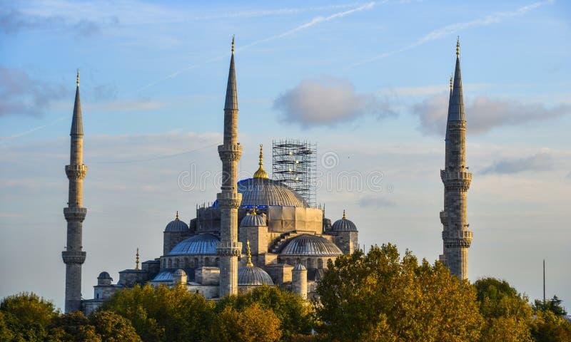 Beroemde Blauwe moskee in Istanboel, Turkije stock foto