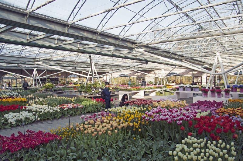 Beroemde flowerpark royalty-vrije stock afbeeldingen