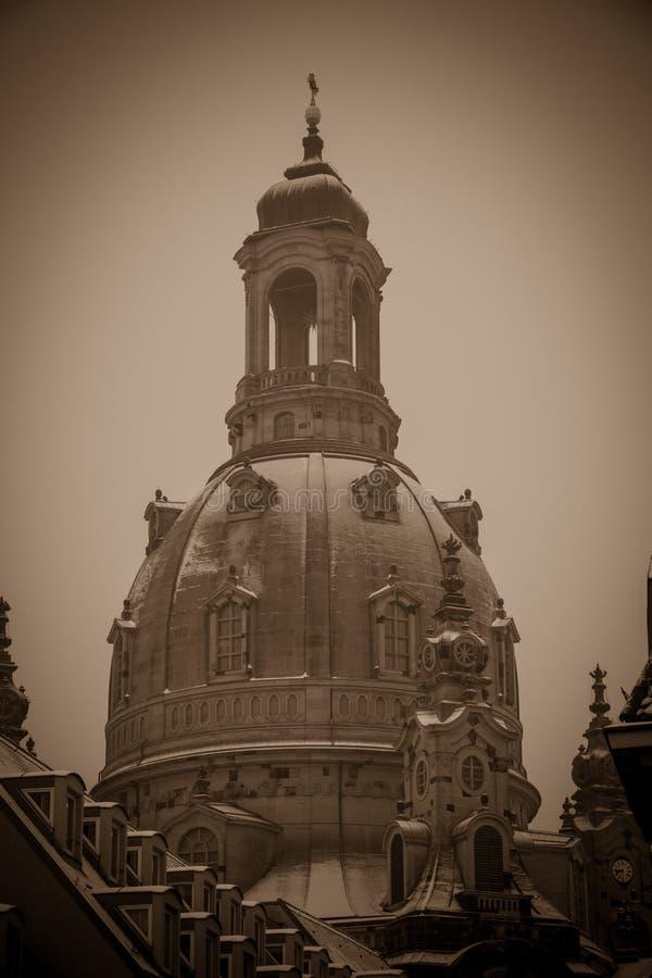 Beroemde Frauenkirche van Dresden, Duitsland royalty-vrije stock foto's
