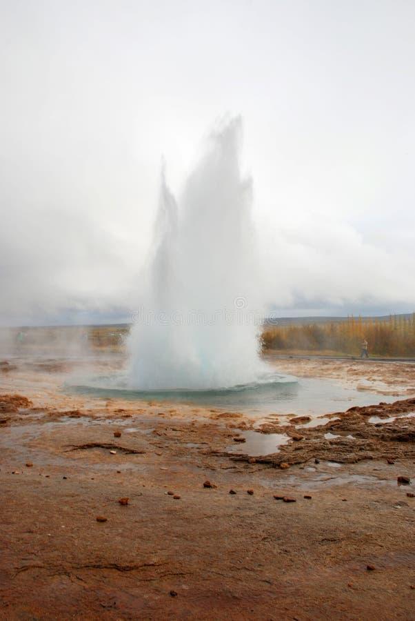 Beroemde Geysir in IJsland royalty-vrije stock afbeelding