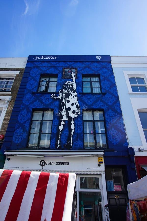 Beroemde graffiti in het notting van heuvel, Londen royalty-vrije stock foto