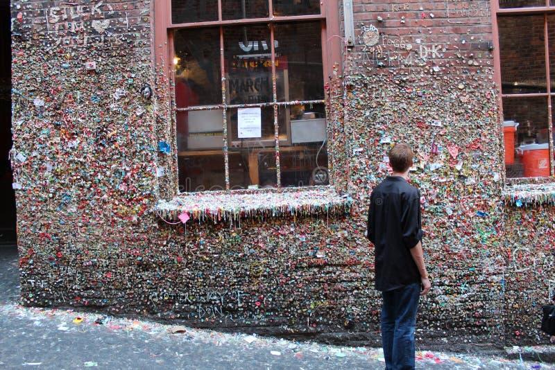 Beroemde gumwall in Snoekenplaats stock afbeeldingen