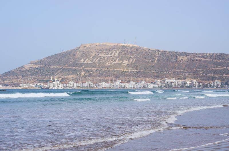 Beroemde heuvel in Agadir - Marokko stock foto's