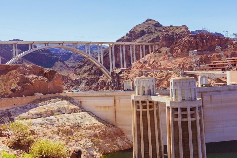 Beroemde Hoover-Vloekbrug royalty-vrije stock afbeeldingen
