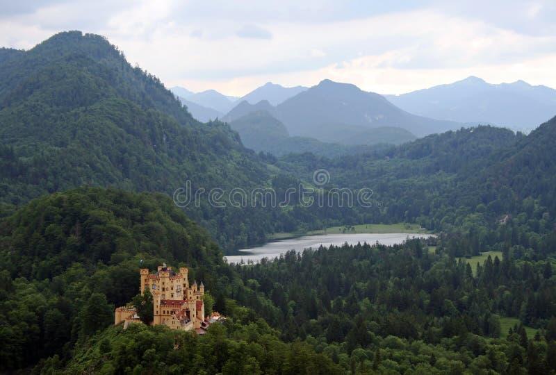 Beroemde kasteelhohenschwangau van koning Ludwig stock fotografie