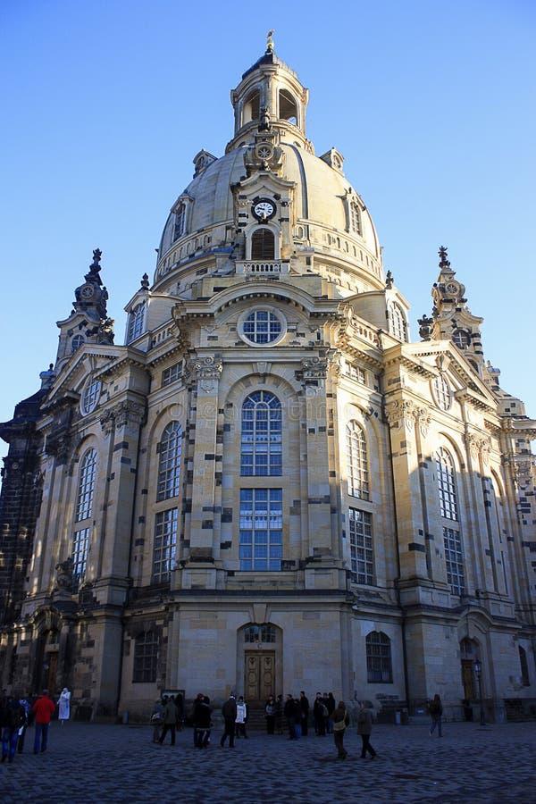 Beroemde Kathedraal Dresden Frauenkirche - Dreaden - Duitsland - 14 1 royalty-vrije stock afbeelding