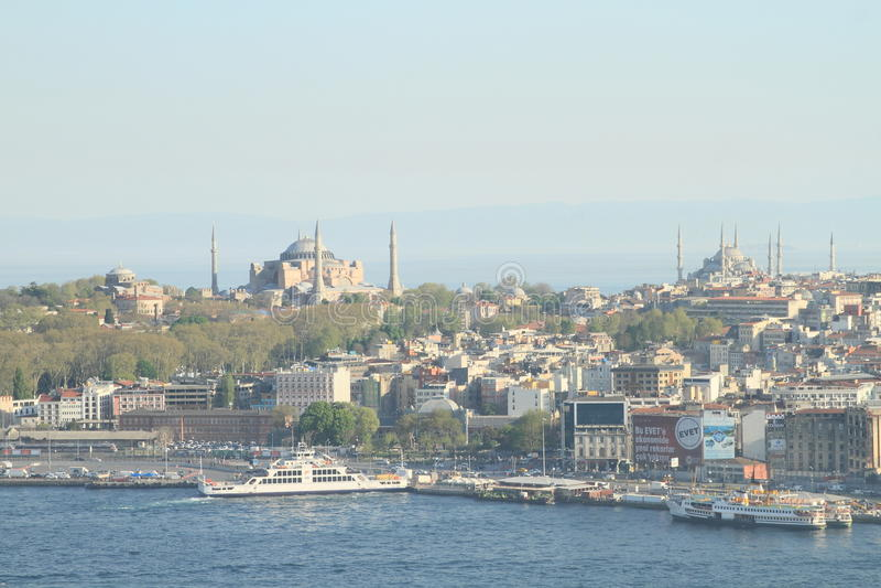 Beroemde moskees in Istanboel stock foto