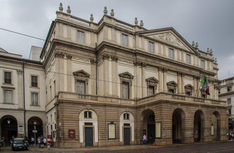 Beroemde opera in Milaan royalty-vrije stock afbeeldingen