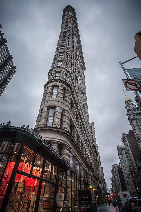 Beroemde oude wolkenkrabber in Manhattan van de binnenstad royalty-vrije stock fotografie