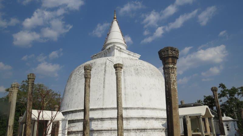 Beroemde pagode, stupa in Sri Lanka royalty-vrije stock afbeelding