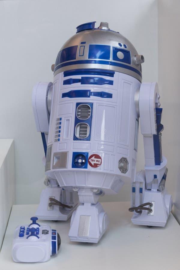Beroemde robot stock foto