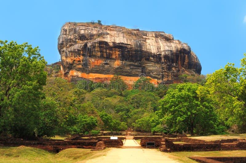 Beroemde rots Sigiriya. Sri Lanka stock afbeelding