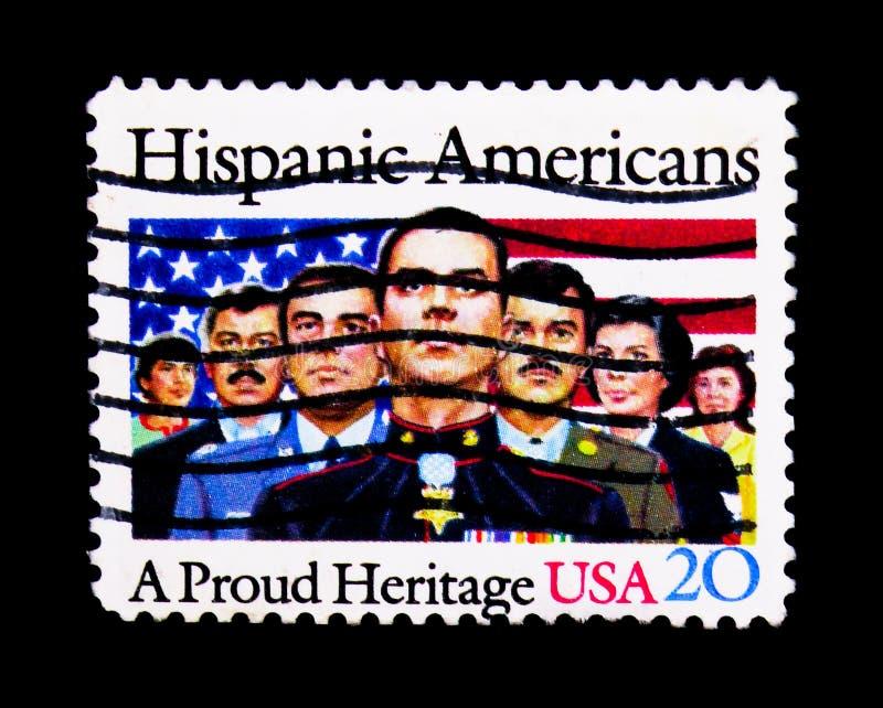 Beroemde Spaanse Amerikanen, serie, circa 1984 stock foto
