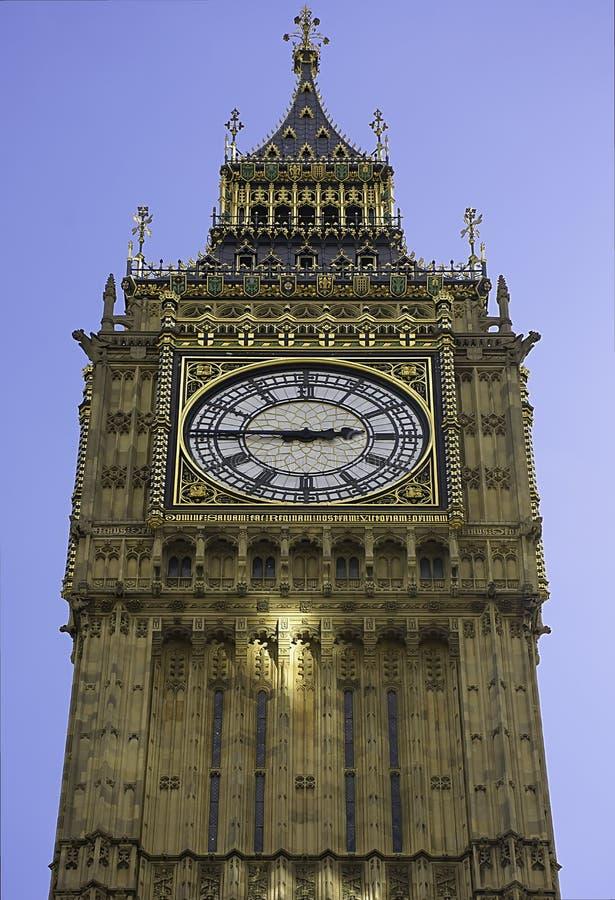 Beroemde toren klok-grote Ben in Londen, het UK royalty-vrije stock foto
