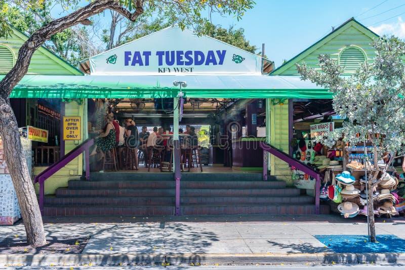 Beroemde Vette Dinsdagbar in Key West royalty-vrije stock foto