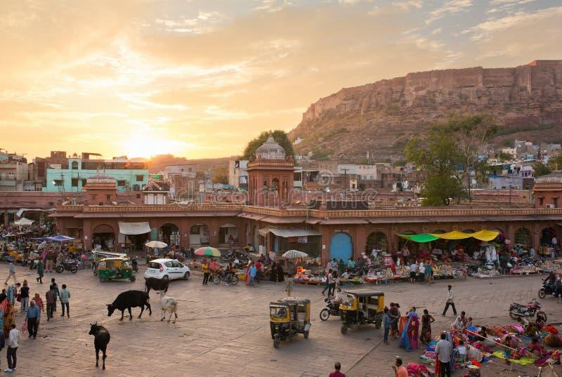 Beroemde victorian Klokketoren in Jodhpur, India royalty-vrije stock afbeeldingen