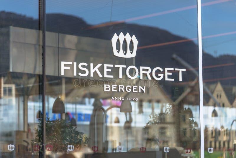 Beroemde Vissenmarkt in Bergen royalty-vrije stock foto