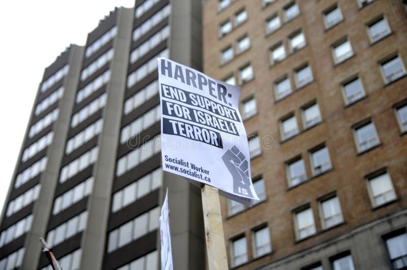 Beroep anti-Israël van de Verzameling van Gaza. stock afbeelding
