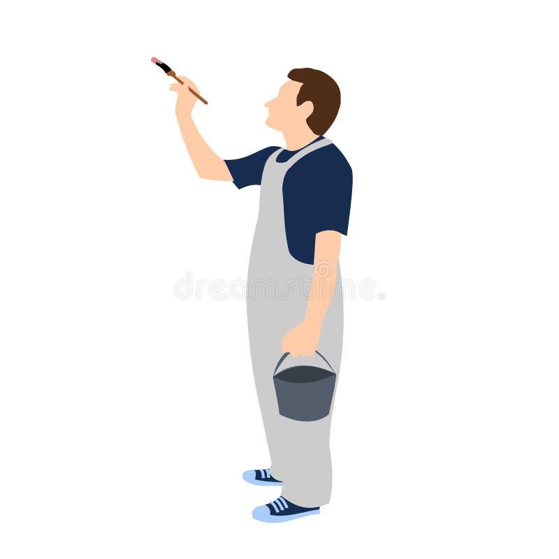 Beroepen - Schilder stock illustratie