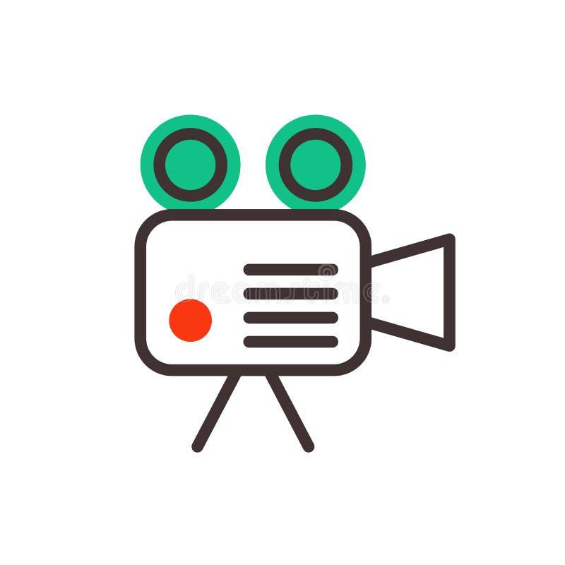 Beroeps van het camera kijkt de video optische objectieve retro materiaal en het digitale uitstekende apparaat van de technologie royalty-vrije illustratie
