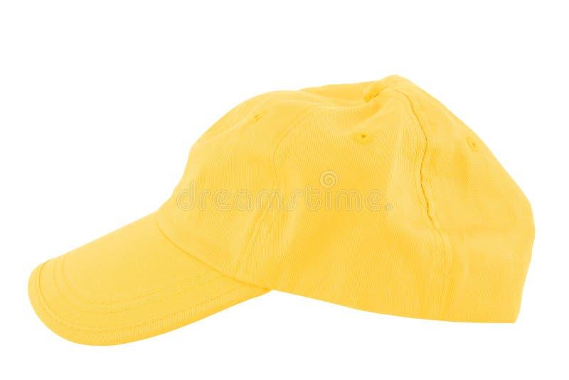 Berretto da baseball giallo immagini stock