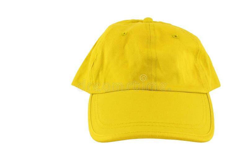 Berretto da baseball giallo fotografia stock