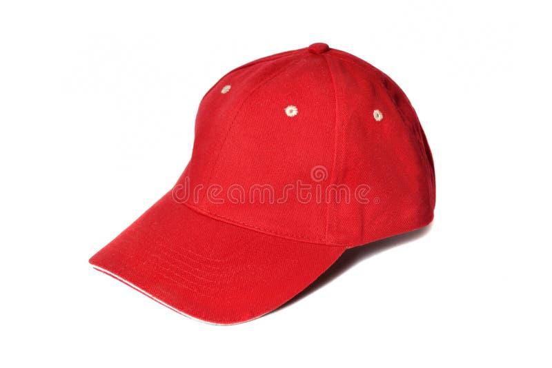 Berretto da baseball rosso immagine stock libera da diritti