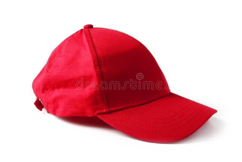 Berretto da baseball rosso fotografia stock libera da diritti
