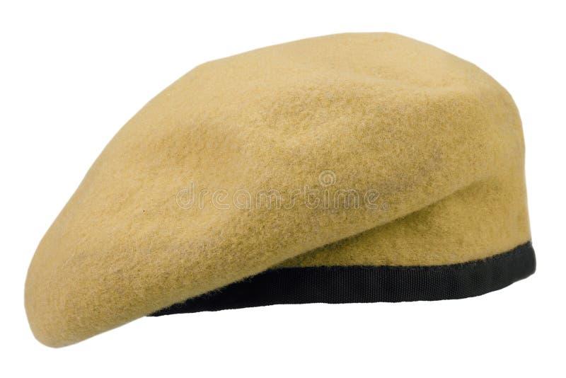 berretto giallo delle truppe militari fotografie stock