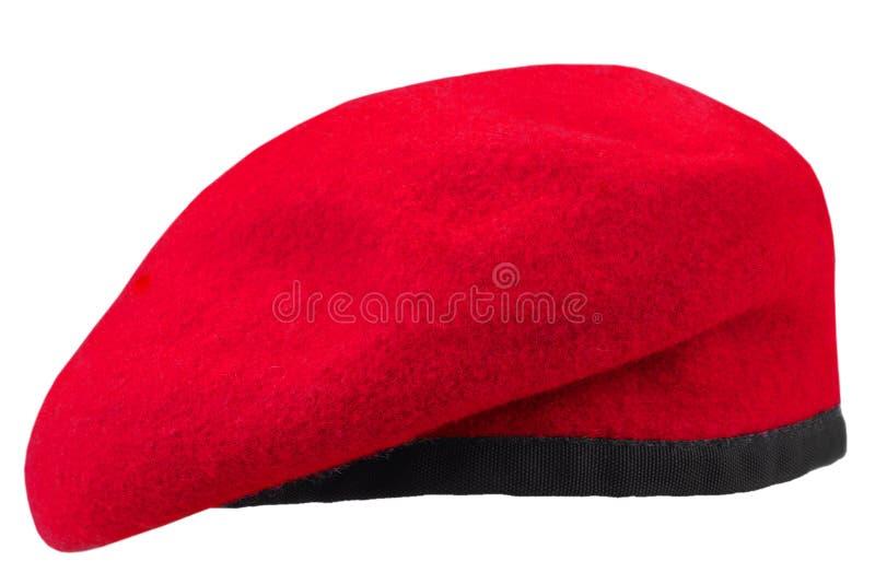 berretto marrone rossiccio delle truppe militari fotografia stock