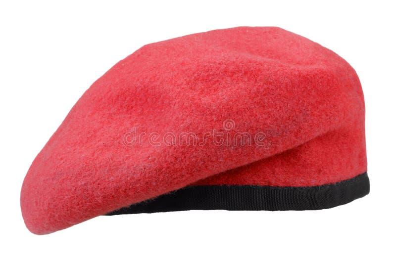 berretto rosso delle truppe militari fotografia stock