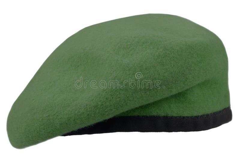 berretto verde delle truppe militari fotografia stock