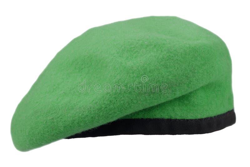 berretto verde delle truppe militari immagini stock