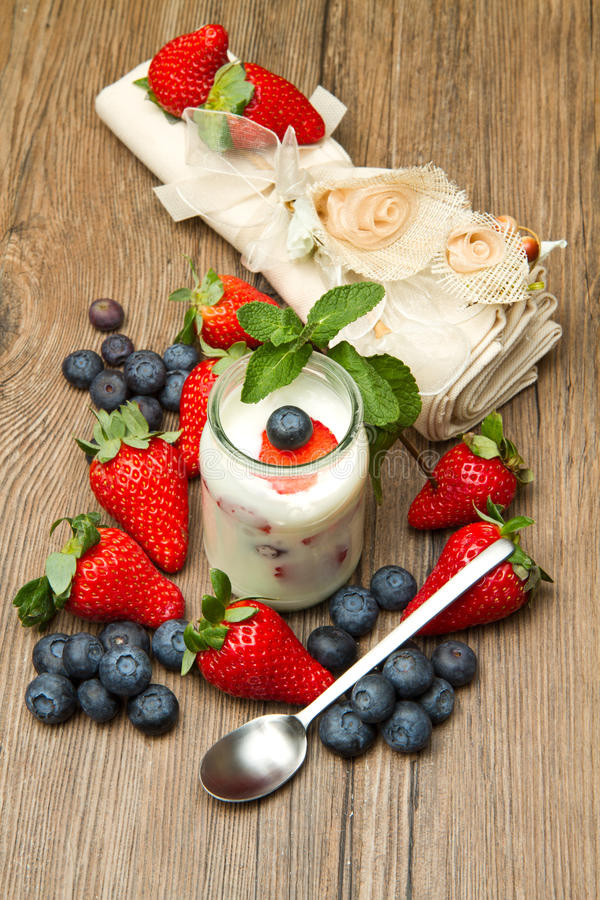 berrie酸奶 图库摄影