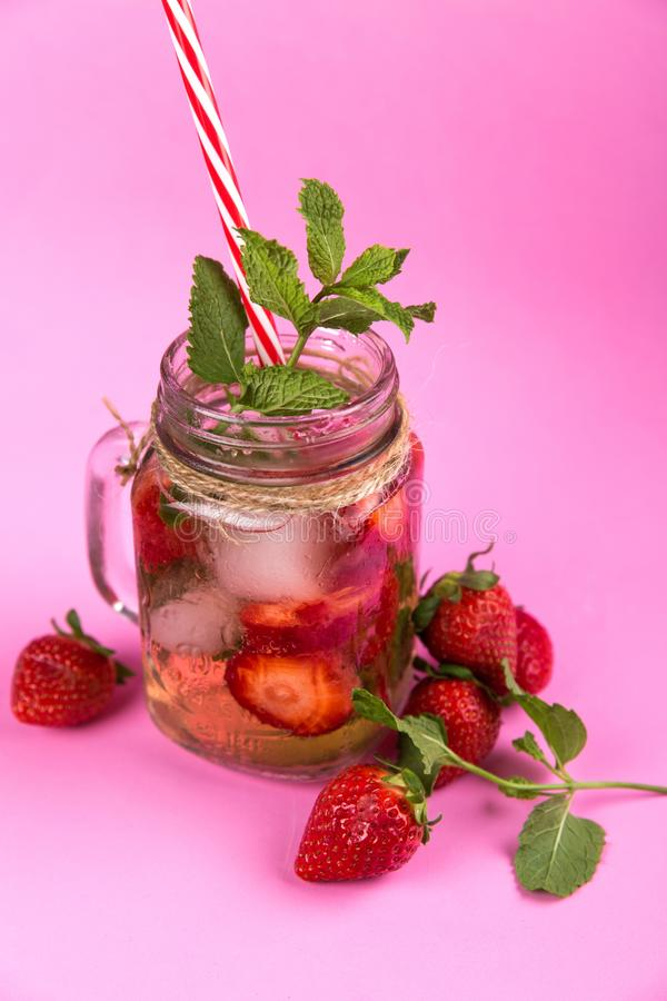 Berries, Beverage, Cold royalty free stock images