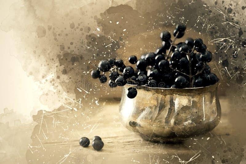 Berries in bowl stock images