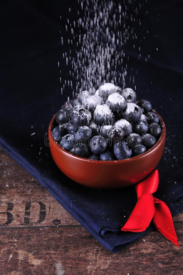 Berries in a bowl stock photos