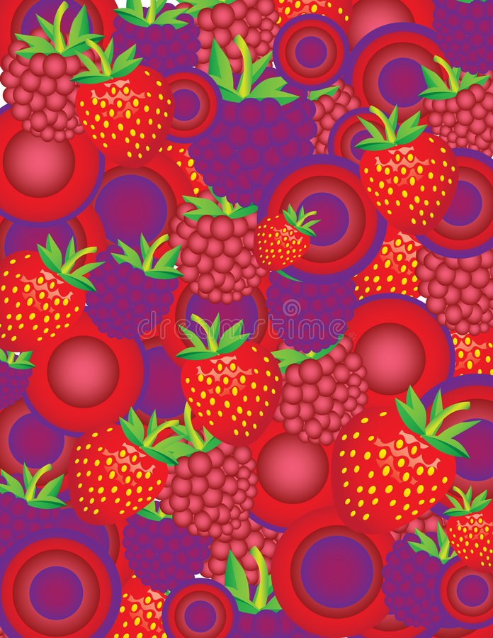 Berries colage stock illustration