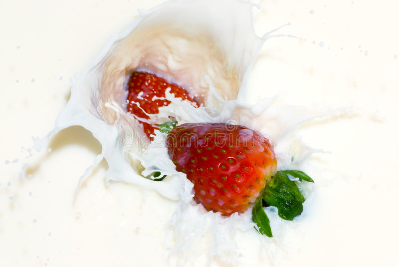 Berries And Cream Stock Images