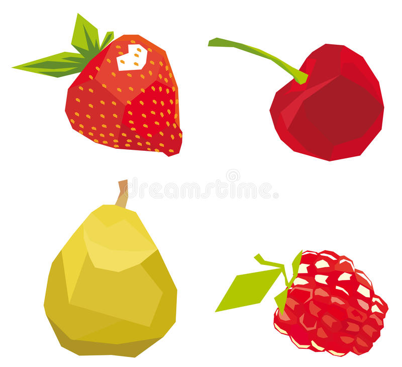 Download Berries The Cubism Drawn In Style, A Royalty Free Stock Photo - Image: 13190645