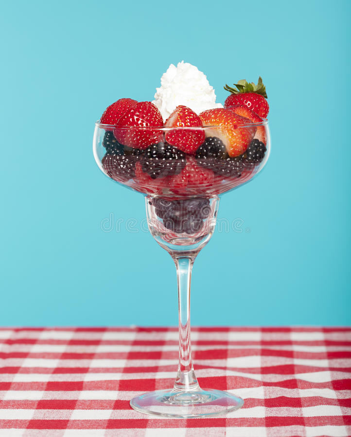 Download Berries in a glass stock photo. Image of berries, cream - 26672274