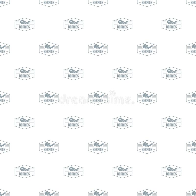 Berries pattern vector seamless royalty free illustration
