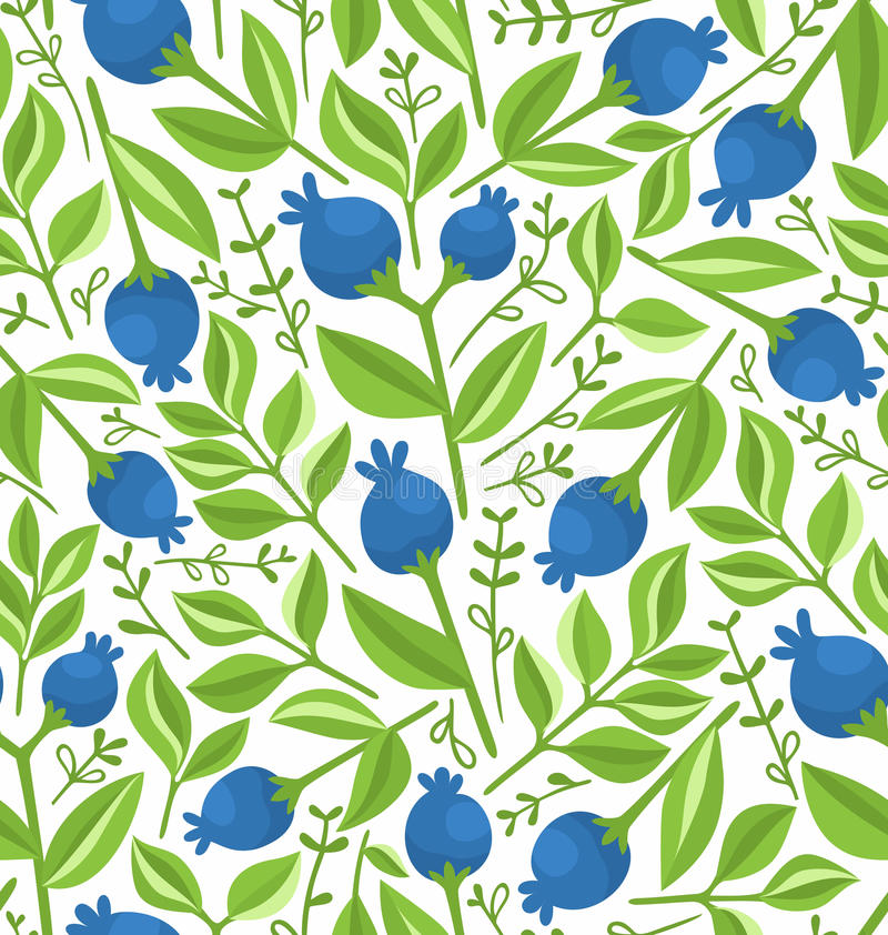 Berries seamless pattern. Background illustration royalty free illustration