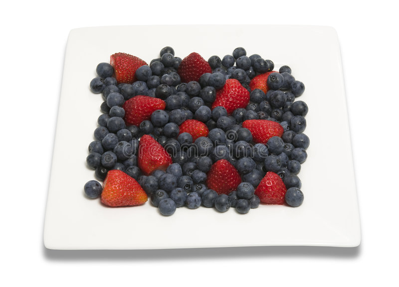 Download Berries on square plate stock image. Image of plate, heap - 7695975