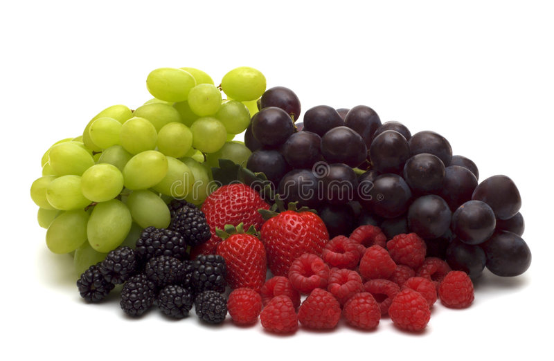 Berry assortment. On white background stock image
